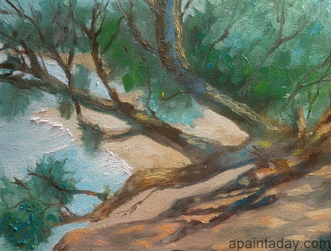 Plein air painting in oil on canvas 9x12, Phillip Island